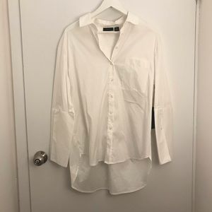 NWT HALOGEN White Button Down